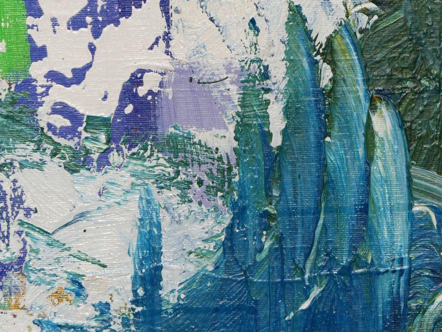 Abstrakt grün blau weiß